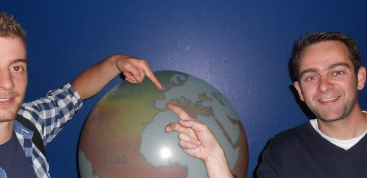 English School Students and a globe