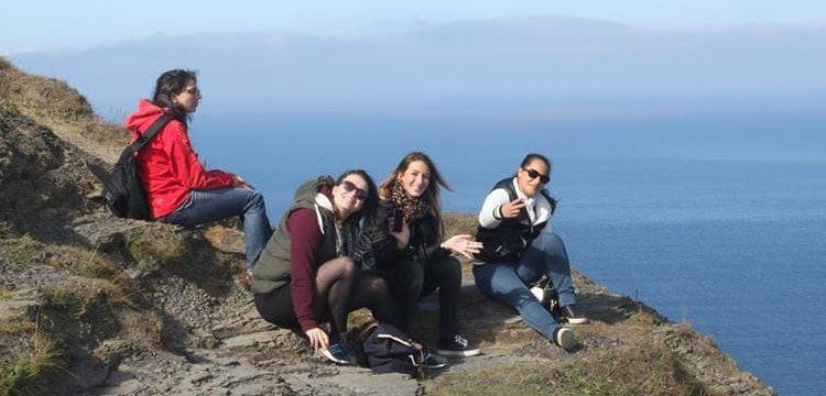 Central School of English students climb a mountain