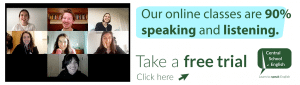 Our Online classes are 90% speaking and listening